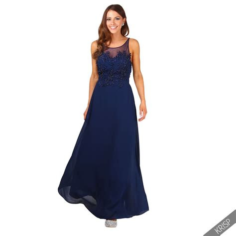ladies formal long prom maxi dress evening ball gown