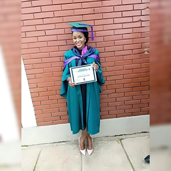 Lady Who Left Nigeria Due To ASUU Strike Graduates From UK With 5.0 CGPA [See Photos]