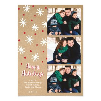 Rustic Festive Multi Photo Holiday Card