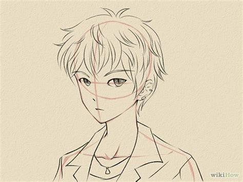 draw  manga face male manga poses male manga