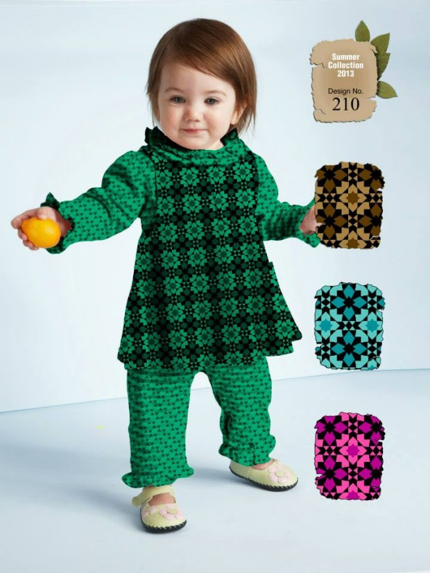 Kids-Childrens-Summer-Casual-Party-Wear-Dresses-Collection-2013-By-Al-Hamra-Fabric-4