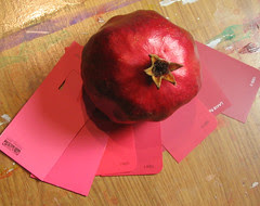pomegranate and paint chips