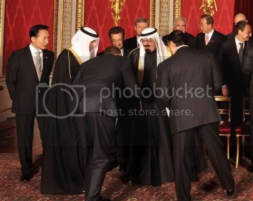 Obama Bows In Submission To Saudi King