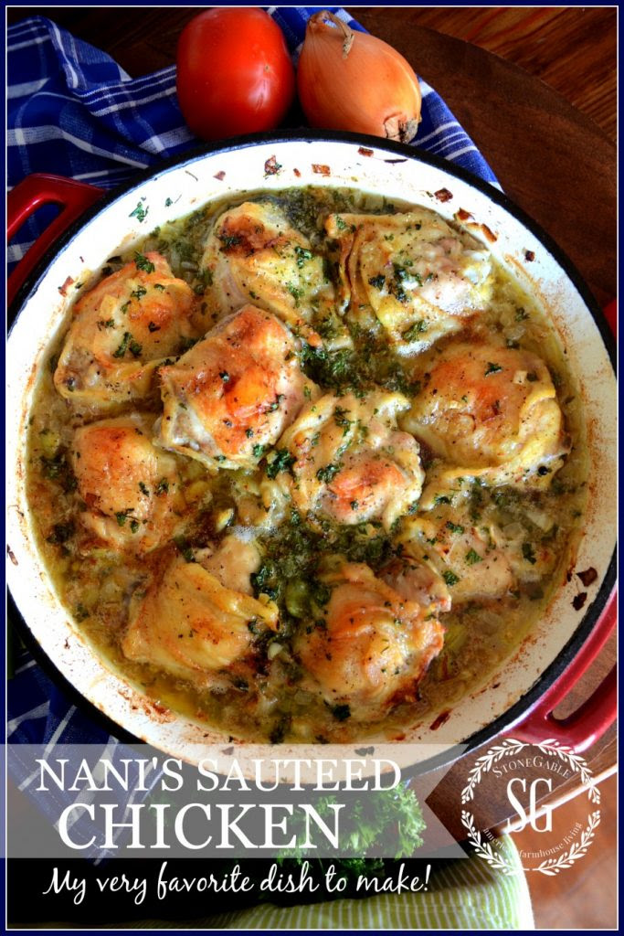 NANI'S SAUTEED CHICKEN-easy-to-make-and-perfectly-scrumptious-stonegableblog.com