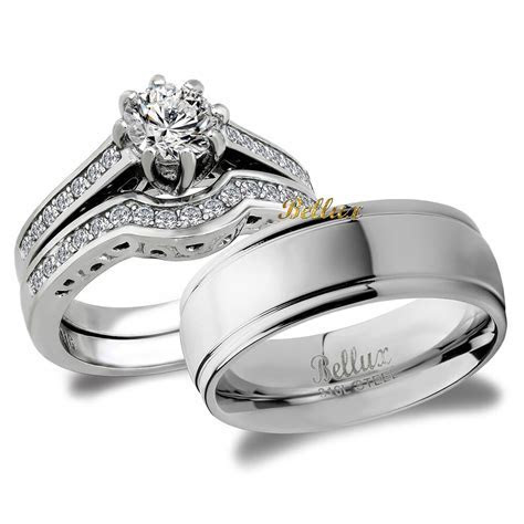 His and Hers Bridal Matching Wedding Ring Set   eBay