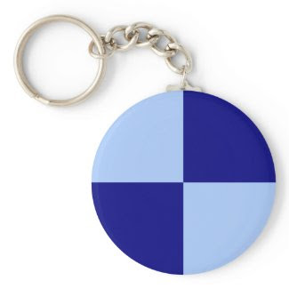 Light Blue and Dark Blue Rectangles keychain