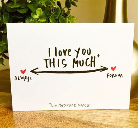 Funny Vanlentine's Day card, i love you this much card