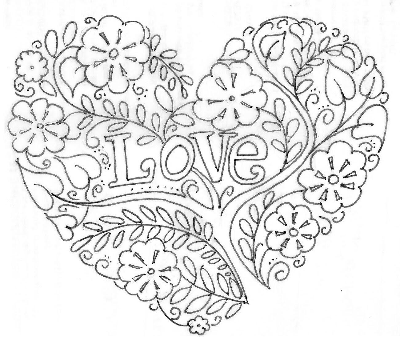coloriage d amour pour adulte