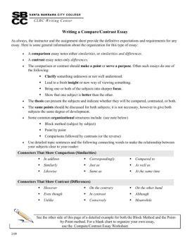 writing a compare and contrast essay santa barbara city college