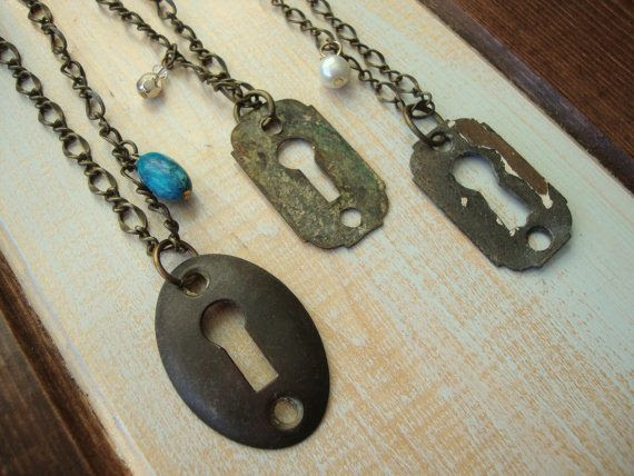 Hey, I found this really awesome Etsy listing at http://www.etsy.com/listing/117785528/upcycled-key-hole-necklace