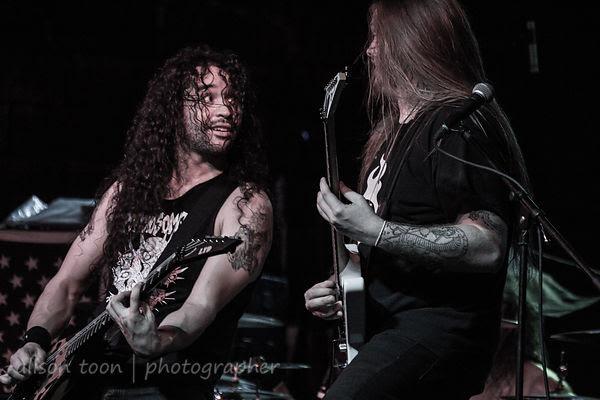 SACRAMENTO, 6 NOVEMBER 2013, Havok, performing at the Ace of Spades, Sacramento, 6th November 2013