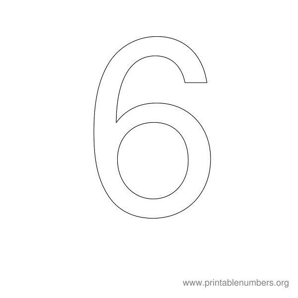 8 Best Images of Printable Number Stencils 6 - 6 Inch Number ...
