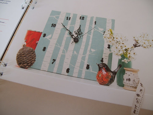 meet me at mikes book - my fabric clock project!
