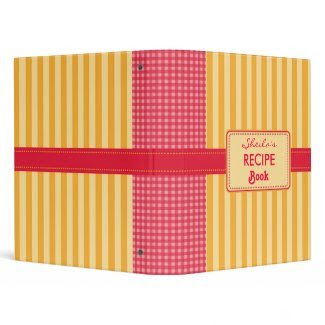 Plaid and Stripes Recipe Binder