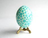 aqua Blue Easter Egg, Turquoise pysanka, ukrainian Easter egg - UkrainianEasterEggs