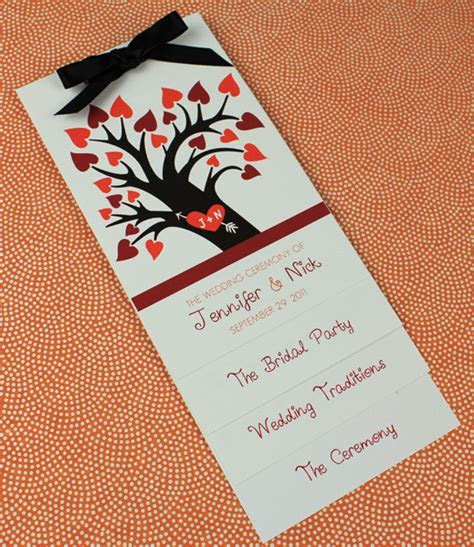Fall Wedding Program Template with Heart Tree ? Download