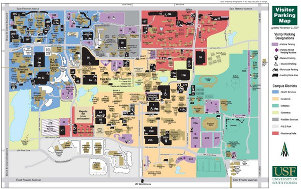 florida southern college campus map Map Of University Of South Florida Florida Map 2018 florida southern college campus map