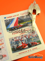 Tameo Kits: Maqueta de coche escala 1/24 - Ferrari F2002 Marlboro Nº 1, 2 - Michael Schumacher, Rubens Barrichello - Gran Premio de Francia 2002 - maqueta de metal