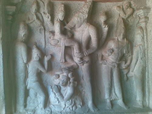 Varaha Panel, Varaha Mandapam, Mamallapuram