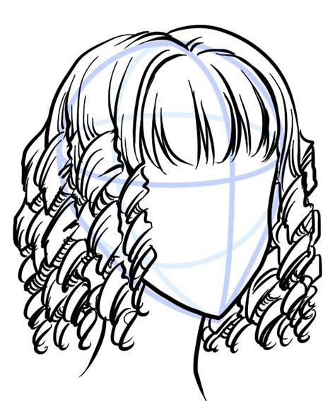 draw curly manga hair   writing