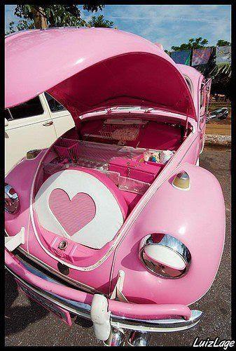 Pink VW bug!!! Bebe'!!! Love that pink!!!