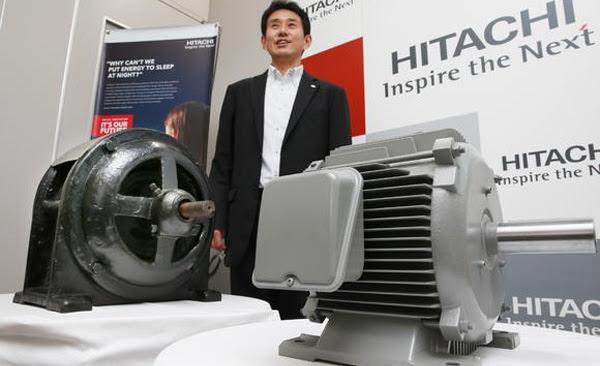 Hitachi presenta el motor industrial más eficiente del mundo
