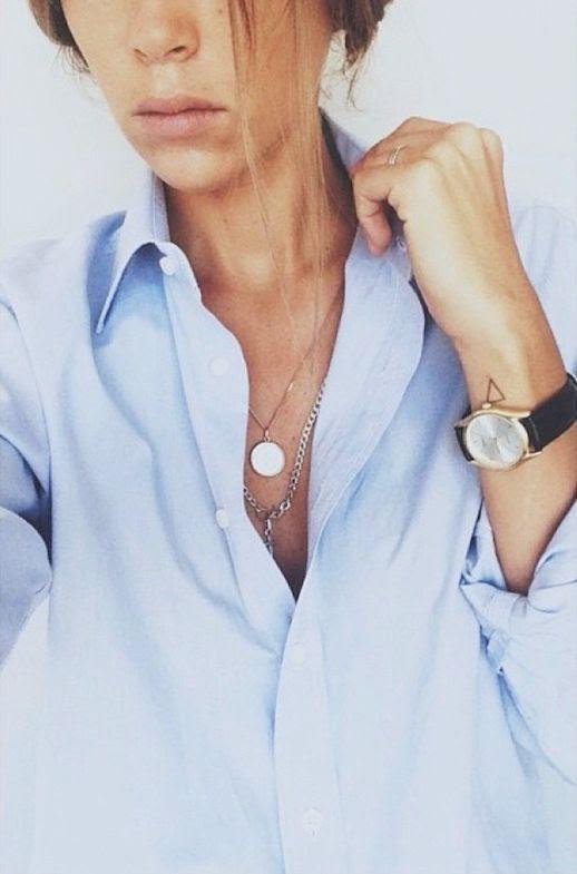 Le Fashion Blog Sunday Blues Classic Button Down Shirt Via Arty Filles Blogger Style Light Blue Mens Shirt Circle Pendant Necklace Chain Necklace Tan Bronzed Black Leather Watch 1 photo Le-Fashion-Blog-Sunday-Blues-Classic-Button-Down-Shirt-Via-Arty-Filles-1.jpg