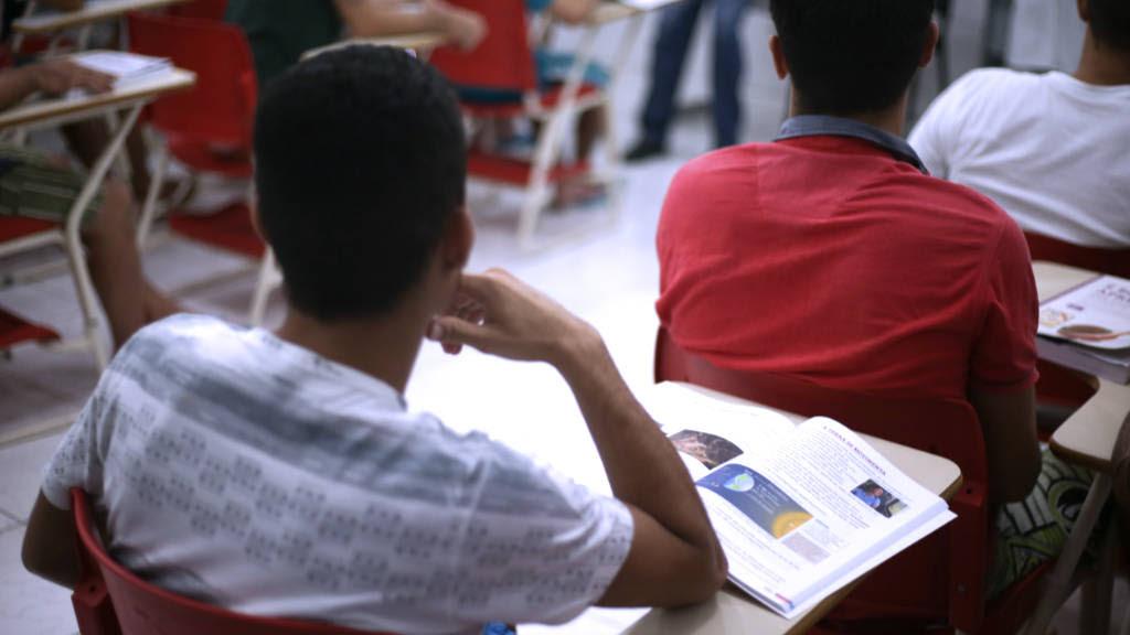 Na Cadeia Pública de Caucaia, quase 90% estão estudando, segundo a Sejus (FOTO: Divulgação/Sejus)