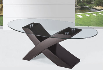X Shape Wood And Glass Tea Coffee Table 8mm Temper Glass Mdf Attached Papers A034