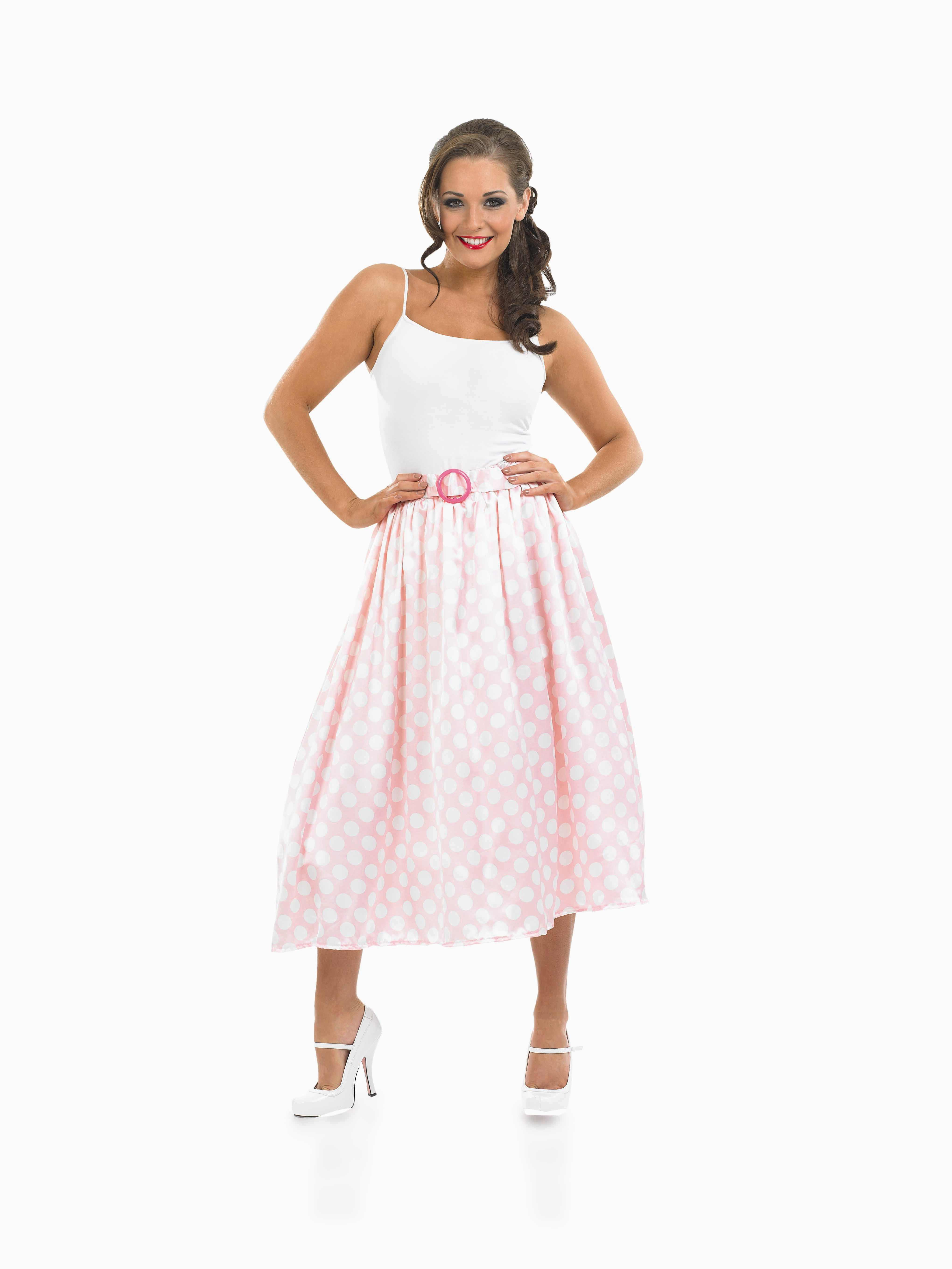 ladies 1950s rock n roll skirt costume for 50s fancy dress