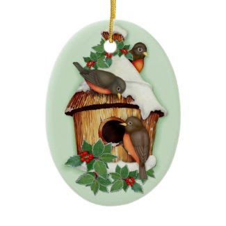 Winter Birds Christmas Tree Ornament