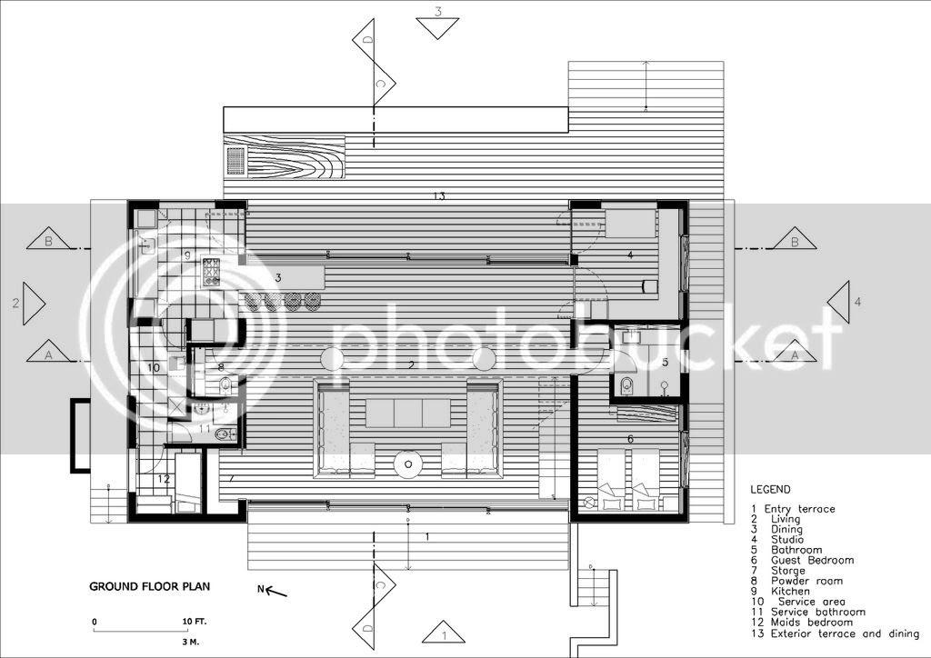 House in Iporanga, Ground floor plan