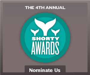 Nominate What Wegan Did Next for a social media award in the Shorty Awards!