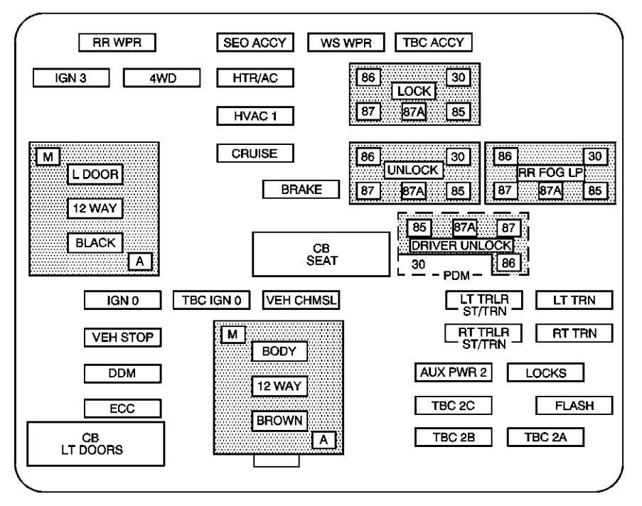 Chevrolet Suburban 2004 Fuse Box Diagram Auto Genius