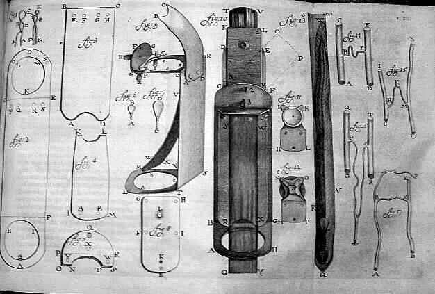 A sketch of van Leeuwenhoek's microscope