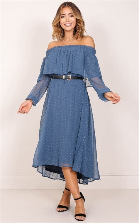 Heart And Soul Dress in Blue   Showpo