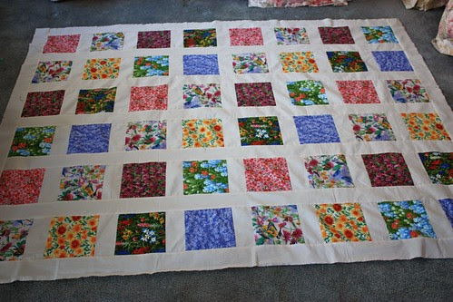 Birds & Wildflowers Quilt top