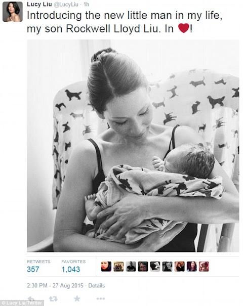 Lucy Liu, 46, introduces her new baby boy Rockwell Lloyd born via gestational surrogate