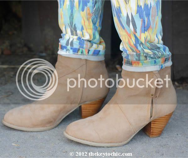 tan tassel western ankle boots, Forever 21 tasseled zip booties