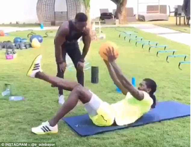 The former Spurs man has hired a personal trainer in his bid to get in a shape for a return to football