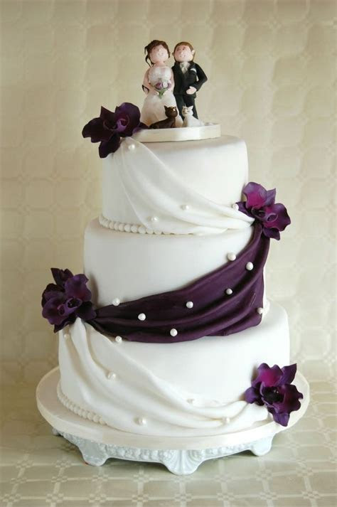 Elegant Wedding Cakes   Simple elegant wedding Cake lilac