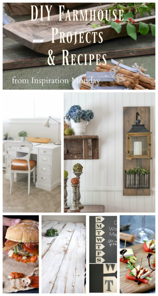 DIY Farmhouse Projects & Recipes from Inspiration Monday