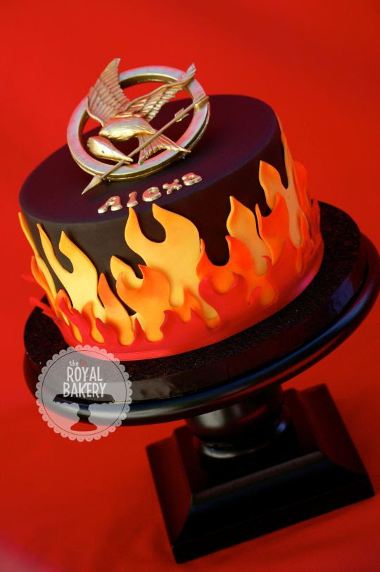 Hunger Games Cake on Fire