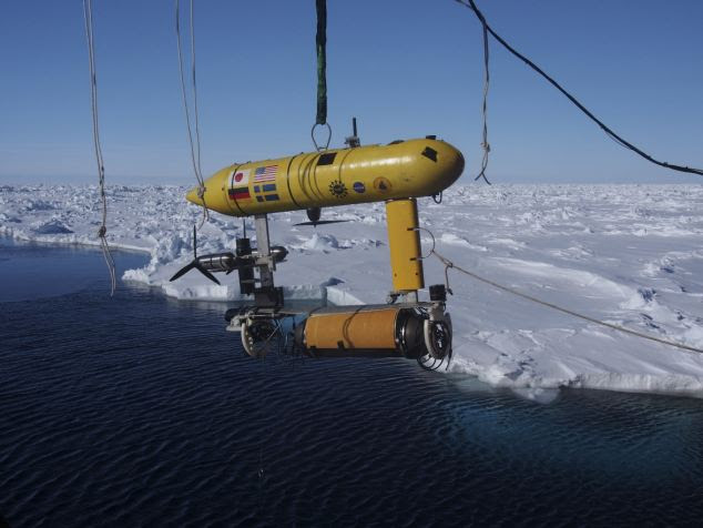 The robot was carried aboard the Australian Antarctic Division's icebreaker, Aurora Australis