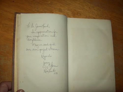 Library Book Sale 9-09: Inscription