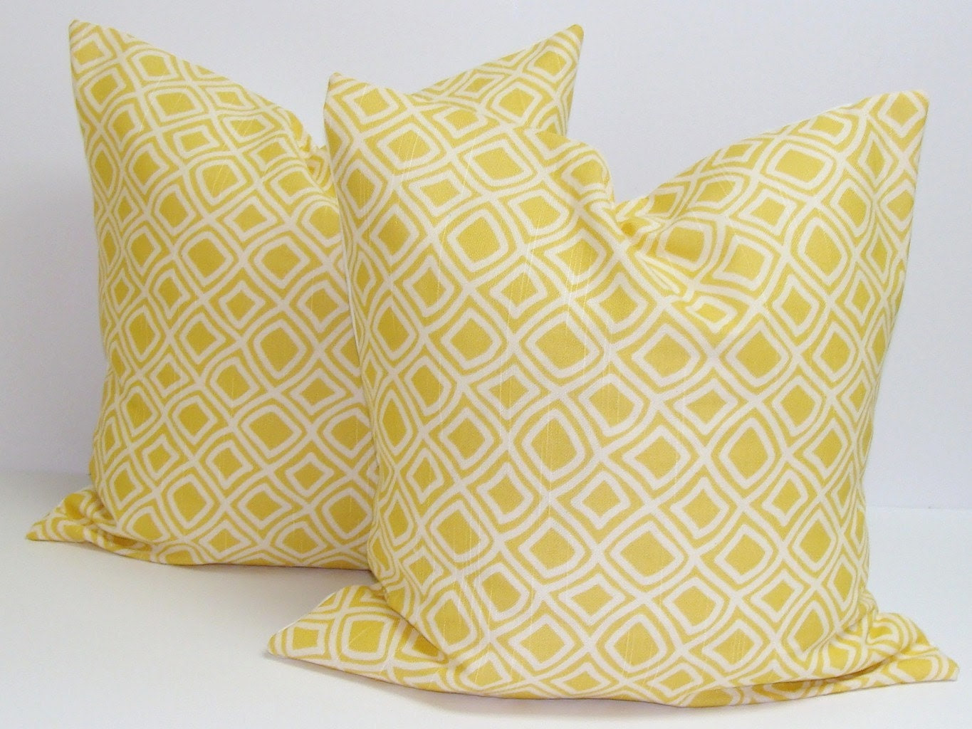 Yellow Decorative Pillow SET OF TWO16x16 by ElemenOPillows on Etsy
