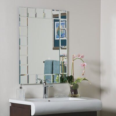 Decor Wonderland Gray Montreal Modern Wall Mirror | Wayfair