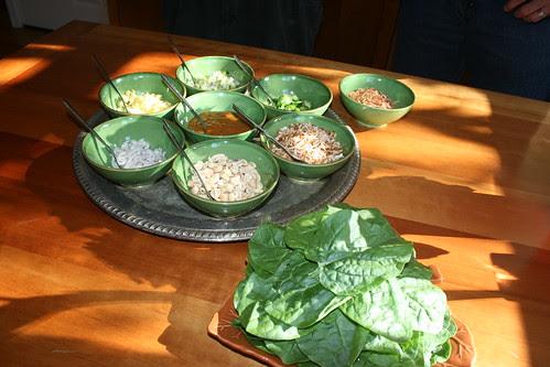 Meang Khum (betel leaf wraps)