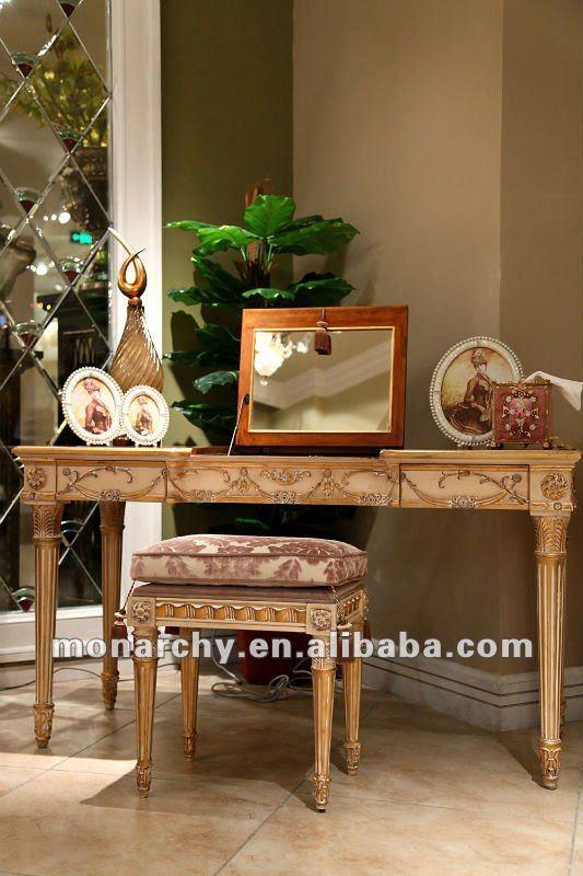 B123-32 wood carving bedroom European Home Furniture design ...