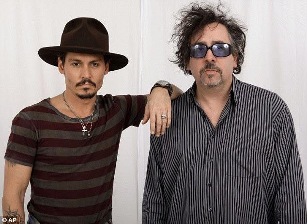 Duo de sucesso: Dark Shadows é a colaboração oitava Depp com seu amigo Tim Burton